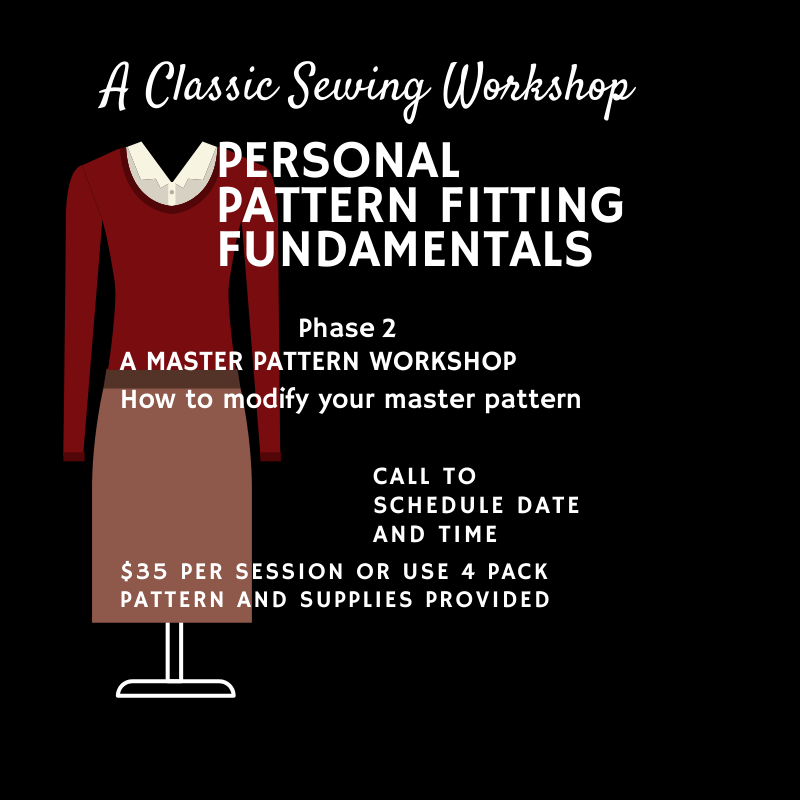 Phase 2 Personal Pattern fitting fundamentals